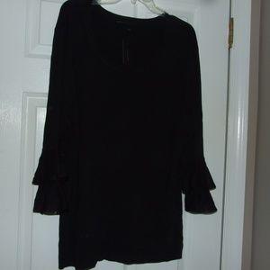 Lane Bryant Sweater W/Ruffled Sleeves 22/24 NWT
